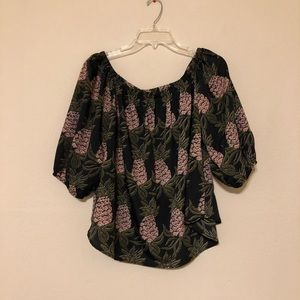 Anthropologie Sunday in Brooklyn Pineapple Blouse